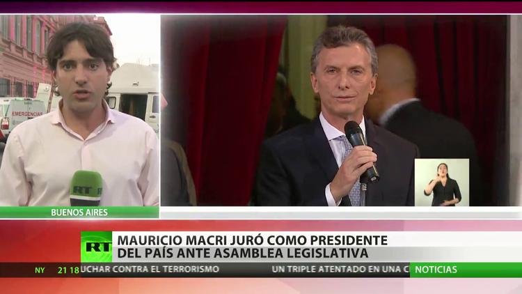 Mauricio Macri juró como presidente de Argentina ante la Asamblea Legislativa