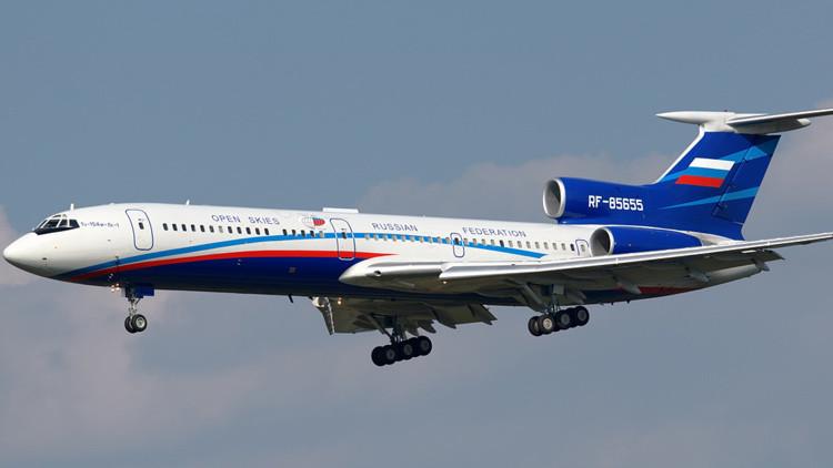 El avión Tupolev Tu-154M/LK-1