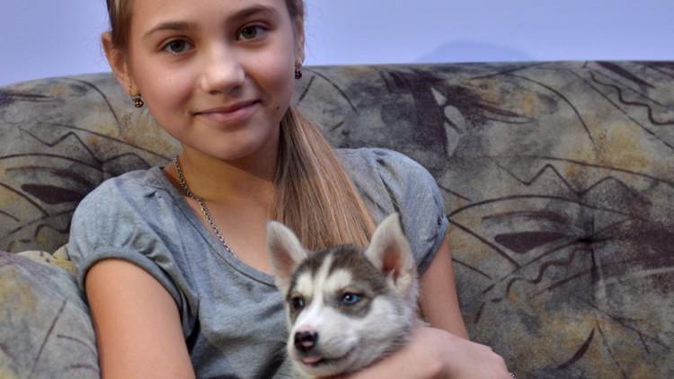 Espíritu festivo: una niña pide a Putin un cachorro para el Año Nuevo y lo recibe