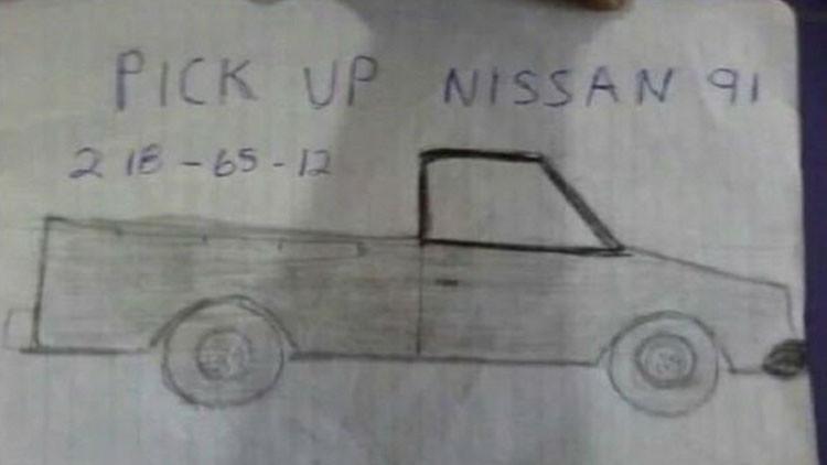 Publica dibujo de su camioneta robada, se burlan y 'Papá Noel' le hace un milagro