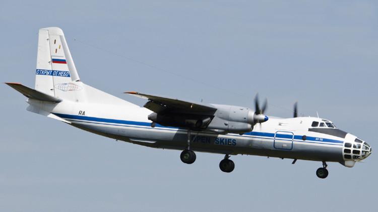 El avión Antónov An-30B de la inspección de Cielos Aiertos