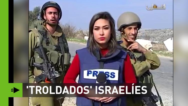 Soldados israelíes 'trolean' a una periodista palestina