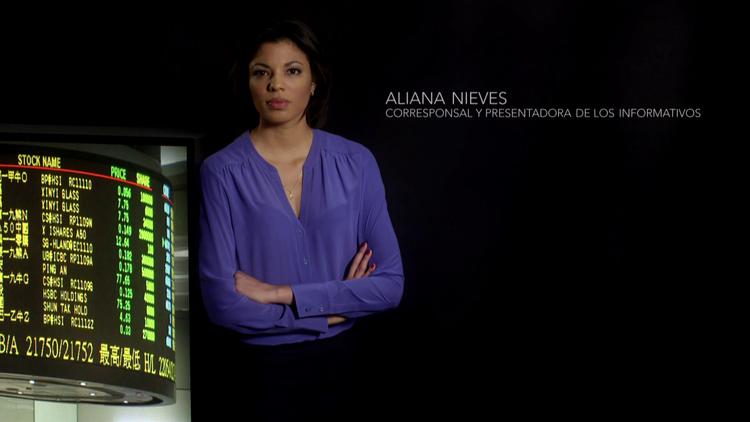 Aliana Nieves, corresponsal y presentadora de los informativos