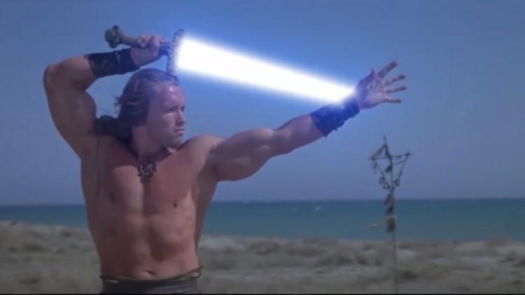 Schwarzenegger demuestra ser un auténtico jedi