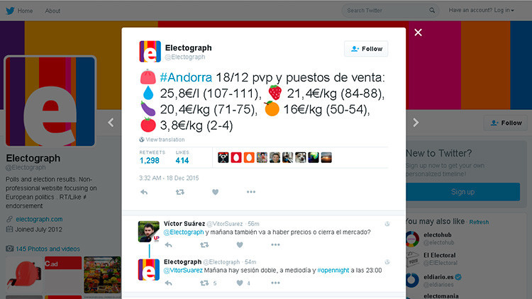 Los españoles, enganchados al 'precio de la fruta' para conocer quién ganará las generales