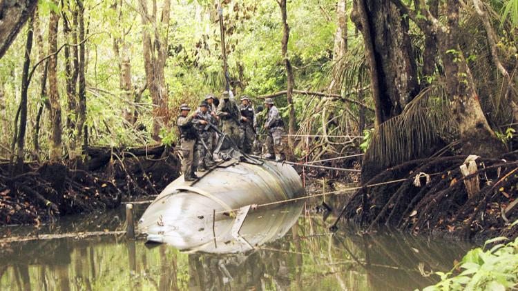 """Encuentran en Brasil un submarino """"prácticamente listo"""" para transportar cocaína"""