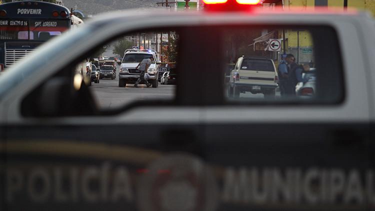 Patrulla policial en la Ciudad Juarez