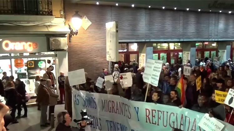 Video: Manifestantes en Madrid piden el fin de las intervenciones de la OTAN
