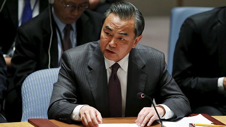 El ministro chino de exteriores Wang Yi