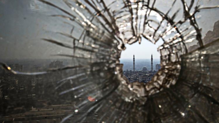El distrito arruinado de la ciudad de Homs