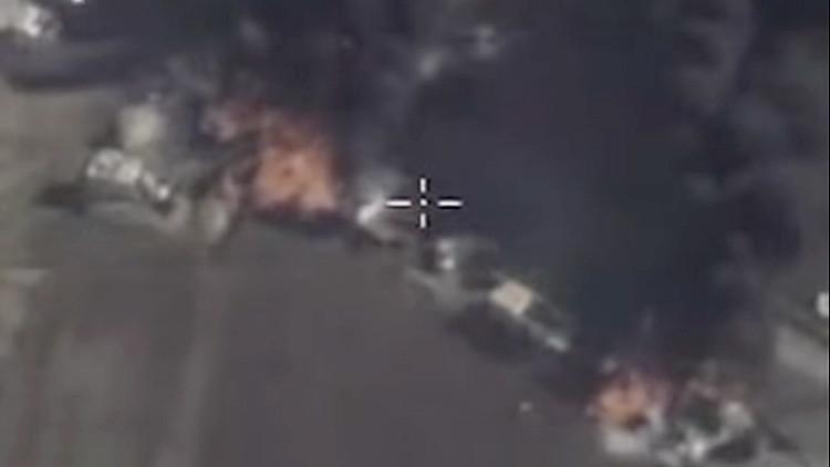 Video: Rusia muestra sus bombardeos contra varios objetivos de extremistas en Siria