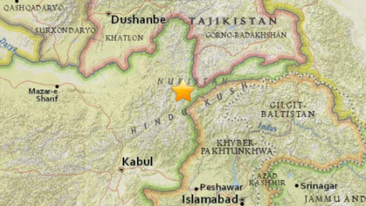 Un sismo de magnitud 6,3 sacude Afganistán