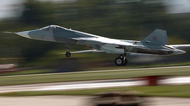 Un caza ruso T-50