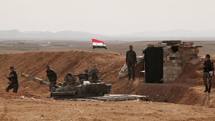 Los militares del Ejército sirio
