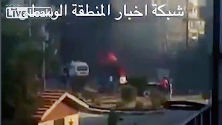 Fuertes imágenes: El momento en que se inmola el terrorista suicida del triple ataque en Homs