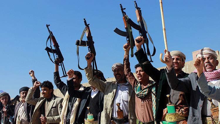 Seguidores de rebeldes chiitas hutíes