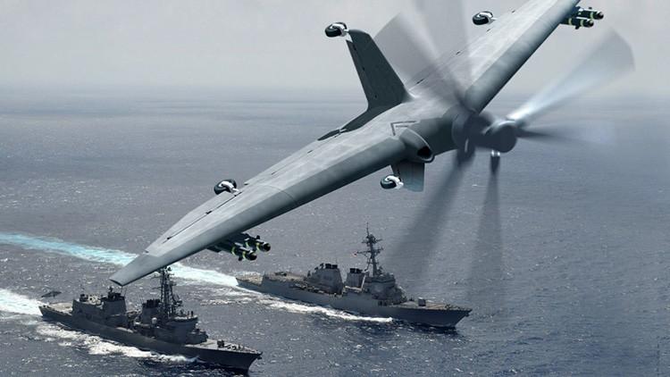 El nuevo dron militar de EE.UU. que podría 'transformar' los buques destructores en portaviones