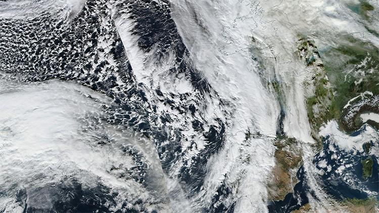 """Una tormenta """"monstruosa"""" en el Atlántico calentará el Polo Norte"""