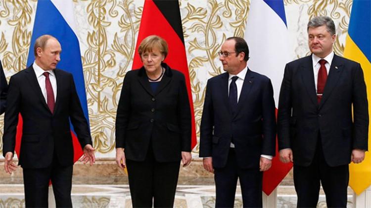 El cuarteto de Normandía resuelve prolongar la vigencia de los acuerdos de Minsk