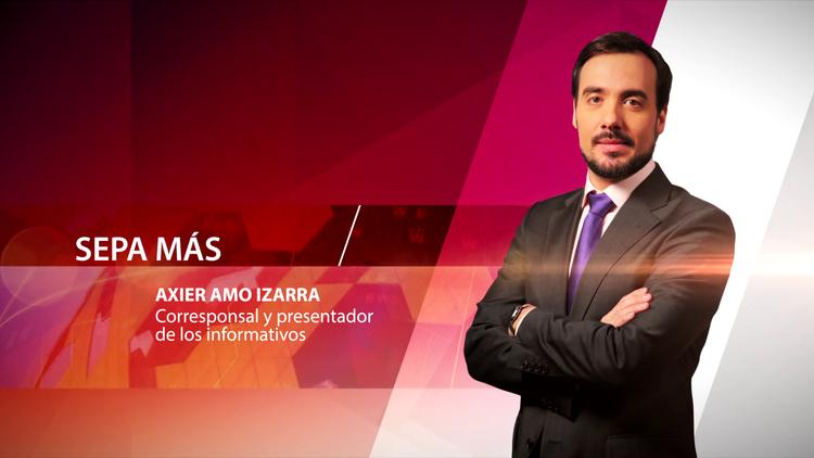 Axier Amo Izarra, corresponsal y presentador de los informativos