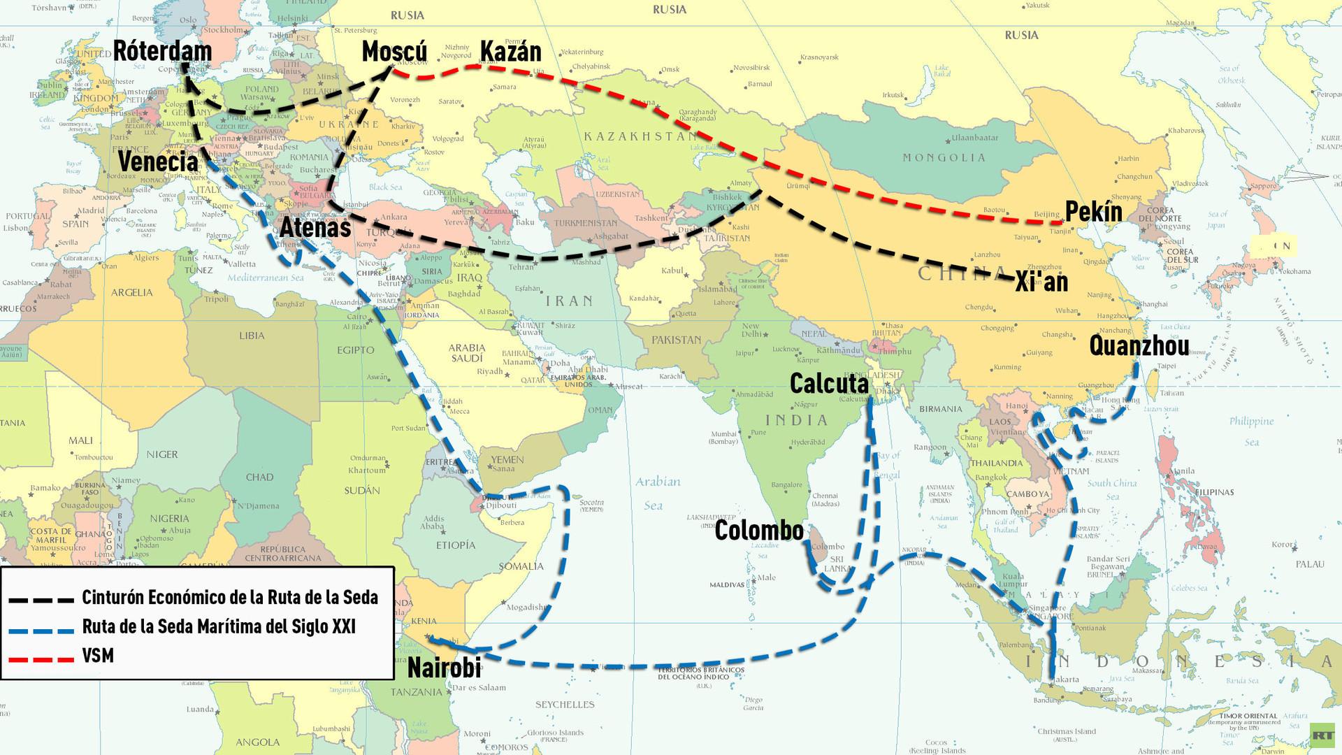 Infografía: Las futuras vías comerciales de China
