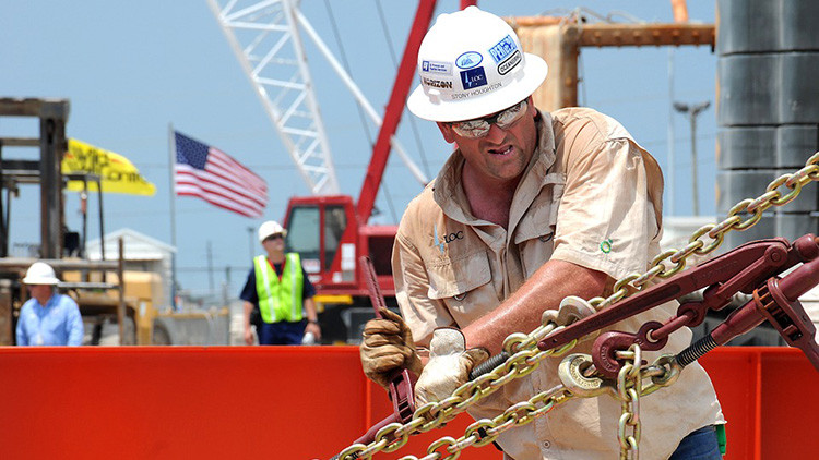 Trabajador en plataforma petrolífera