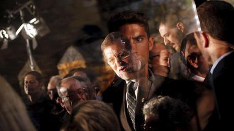 Mariano Rajoy en un mitin electoral en Cabra, sur de España