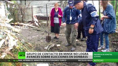 Grupo de contacto en Minks no logra avances sobre elecciones en Donbass