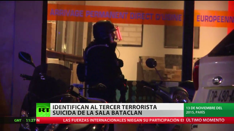 Identifican al tercer terrorista suicida de la sala de conciertos Bataclan