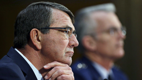 El secretario de Defensa, Ashton Carter, expone ante el Comité de Servicios Armados del Senado