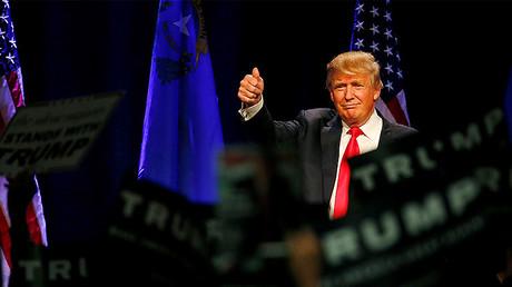 El precandidato presidencial republicano de EE.UU., Donald Trump, durante un discurso pronunciado en un mitin en Las Vegas, Nevada, el 14 de diciembre de 2015.