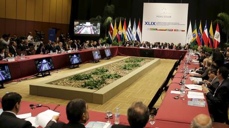 Participantes de la 49.ª cumbre del Mercosur