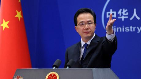 El portavoz del Ministerio de Exterior chino, Hong Lei.