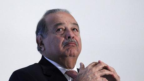 El multimillonario mexicano Carlos Slim en una presentación en México D. F.
