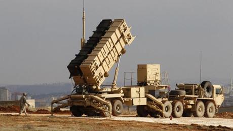 Sistema de misiles Patriot desplegado en la base militar de Gaziantep, Turquía