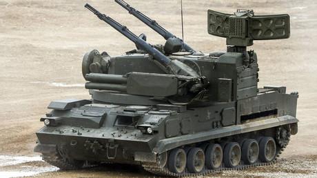 """El sistema """"Tunguska"""" en el foro técnico-militar """"Ejercito 2015"""" en  la región de Moscú, Rusia"""