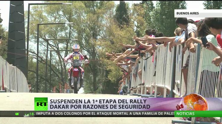 """Argentina: Suspenden la primera etapa del rally Dakar por """"razones de seguridad"""""""