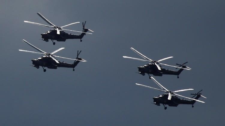 Los 'cazadores nocturnos' Mi-28 rusos destruyen posiciones del EI en Irak (Video)
