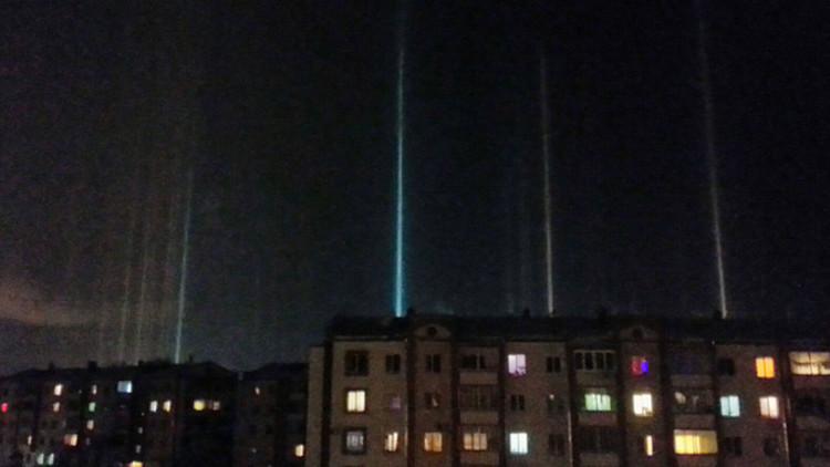 Una ciudad de Rusia es sorprendida por un insólito fenómeno multicolor
