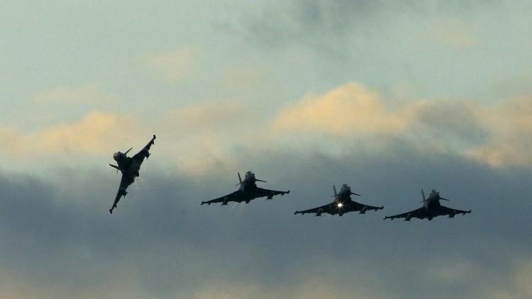 Cazas polivalentes Typhoon de la RAF