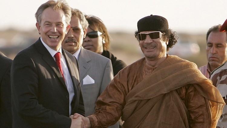 Conversaciones reveladas: Gaddafi advirtió a Tony Blair de los ataques islamistas en Europa
