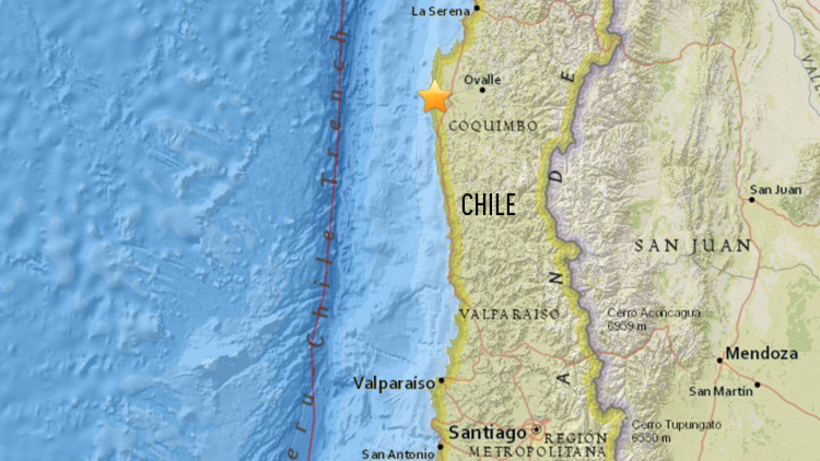 Se registra en Chile un sismo de magnitud 5,9