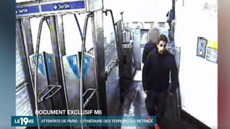 Imágenes: El organizador de los atentados en París en el metro después de los ataques