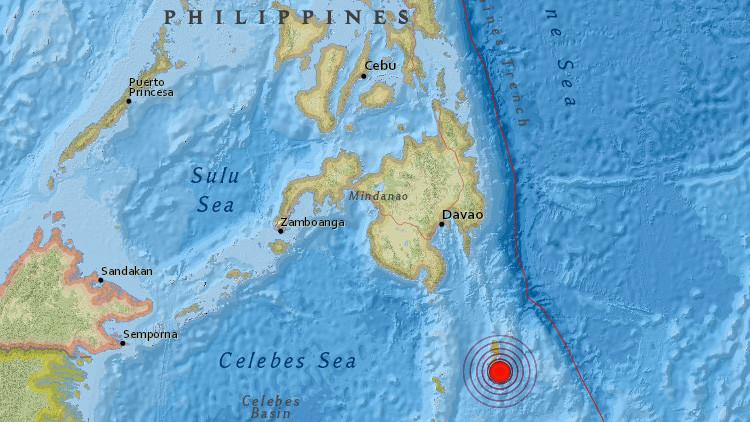 Sismo de magnitud 6,4 frente a las costas de Filipinas