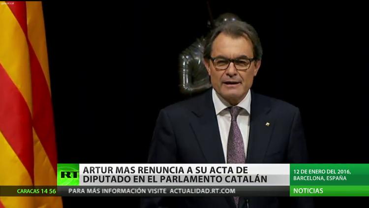 Artur Mas renuncia a su acta de diputado del Parlamento catalán