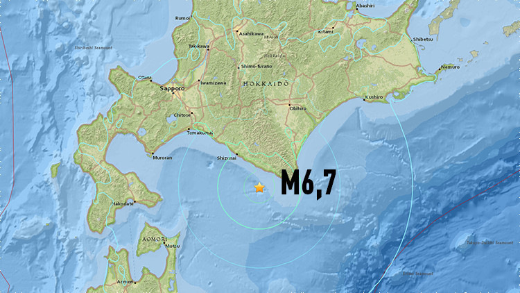 Un terremoto de magnitud 6,7 sacude Japón