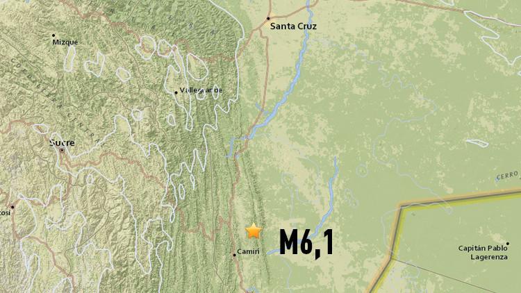 Un terremoto de magnitud 6,1 sacude Bolivia