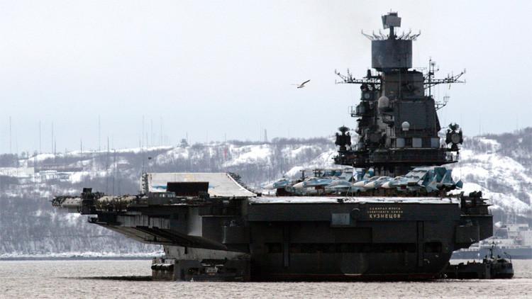 El portaaviones Almirante Kuznetsov