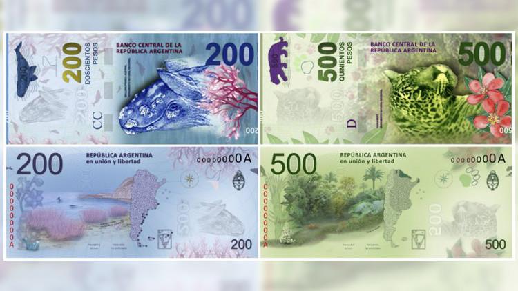 Argentina pondrá en circulación billetes de mayor valor