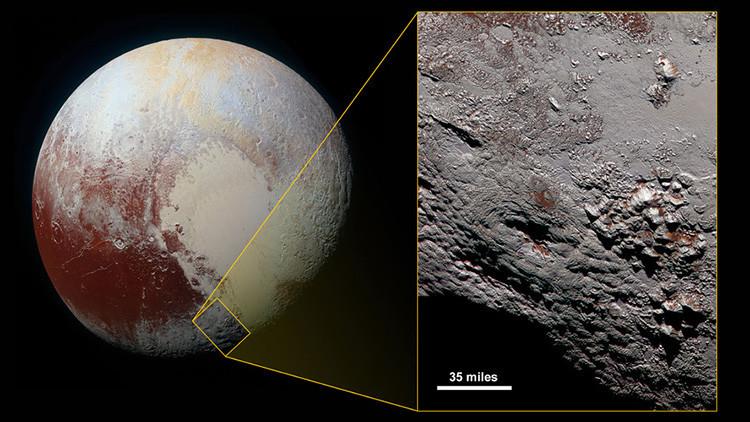 Foto: Hallan en Plutón un volcán gigantesco de agua y hielo